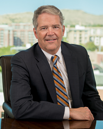 Seated photo of Steven J. Christiansen Attorney at Parr Brown Gee and Loveless