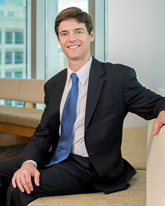 Seated photo of Austin J. Riter Attorney at Parr Brown Gee and Loveless