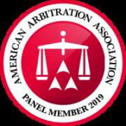 American Arbitration Association Panel Member | 2019
