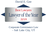 Attorney David E. Gee | Best Lawyers Lawyer of the Year 2019 | Corporate Governance Law
