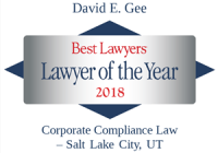 Attorney David E. Gee | Best Lawyers Lawyer of the Year 2018 | Corporate Compliance Law