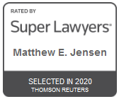 Attorney Matthew E. Jensen | Rated by Super Lawyers 2020