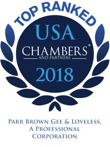 Chambers USA Recognizes Parr Brown as a Leading Utah Law Firm 2018