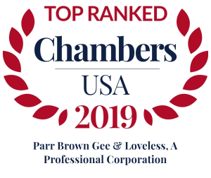 Chambers USA Recognizes Parr Brown as a Leading Utah Law Firm 2019