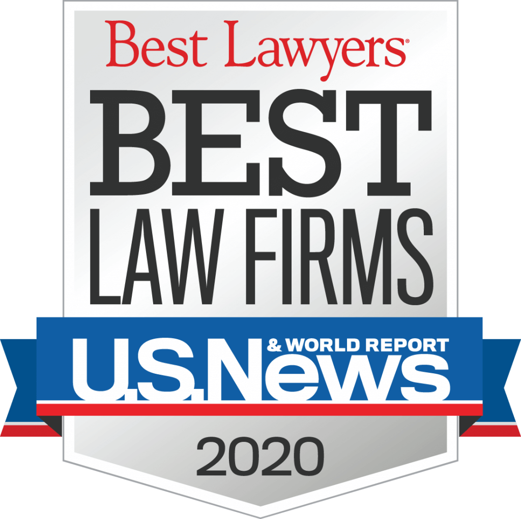 Image of U.S News 2020 Best Law Firm Badge